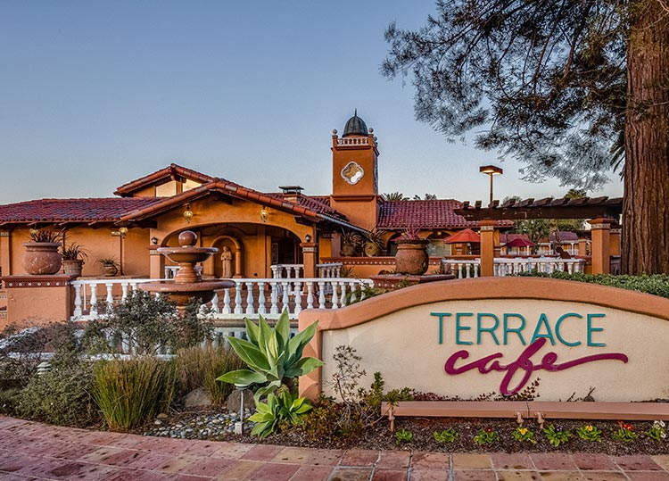 Entrance of Terrace Cafe Restaurant